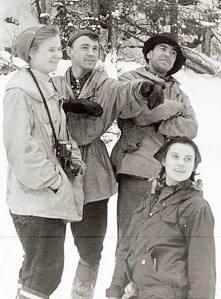 Wyprawa Diatłowa. Od lewej: Dubinina, Sołobodin, Zołotarjow i Kołmogorowa