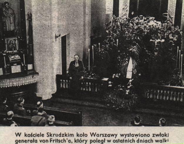 """Niemiecki fotomontaż, czyli """"Kościół Skrudzki""""."""